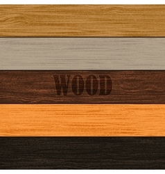 Set of wood textures vector image