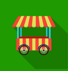 Snack cart icon in flat style isolated on white vector