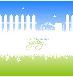 Spring garden background with copyspace vector