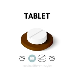 Tablet icon in different style vector