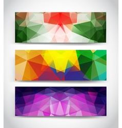 Triangular banners vector image