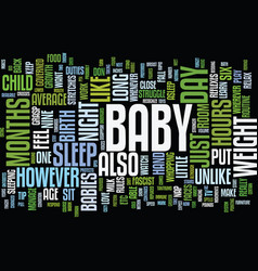 Your baby s growth and development text vector