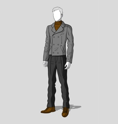 Man in sailor jacket and pants vector