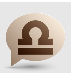 Libra sign  brown gradient icon on vector