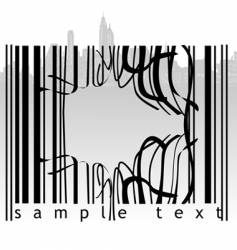 Broken barcode vector