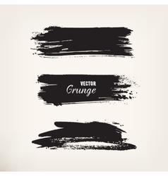 Grunge black ink stroke vector image