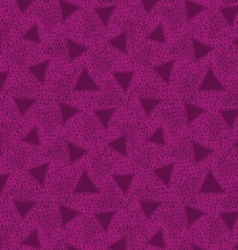 Rough triangles textured with hatches deep magenta vector