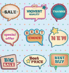 Vintage speech bubbles vector