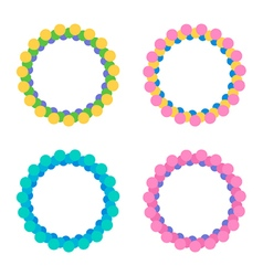 Set of colorful round circle frames vector image