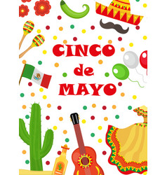 Cinco de mayo greeting card template for flyer vector