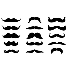 Man moustaches vector image