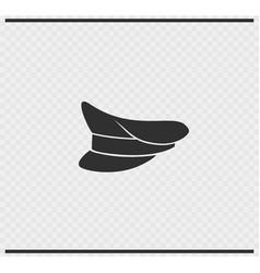 Cap icon black color on transparent vector
