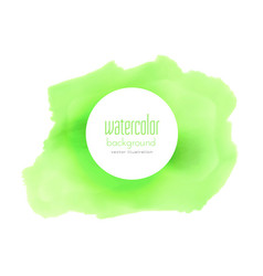 Green watercolor stain background vector