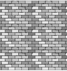 Seamless pattern of gray brick with cracks and vector