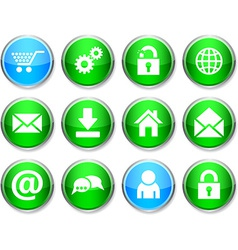 Web round icons vector