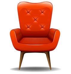 Orange chair vector
