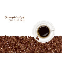 Desing with coffee and bean white background vector