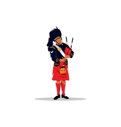Scottish bagpiper vector