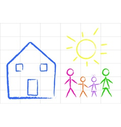 Child family design vector