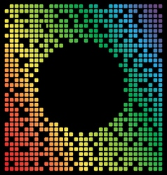 Rainbow color pixel background black copy space vector