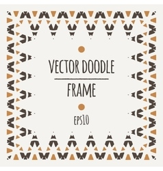 frame of triangles and segments manually vector image