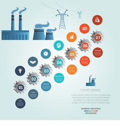 industrial infographic 7 vector image