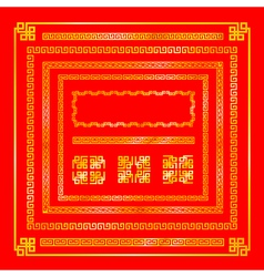 Chinese style gold border decoration element for vector