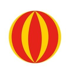 Circus ball isolated icon design vector