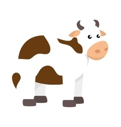 cute ox manger character vector image