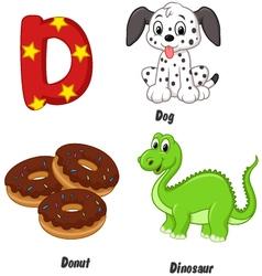 D alphabet vector image