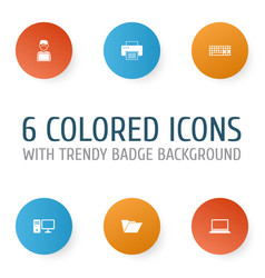 digital icons set collection of keypad personal vector image vector image