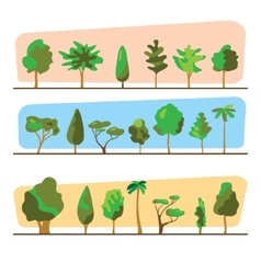 Diversity of trees set on white vector image vector image