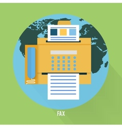 Fax icon in flat design vector
