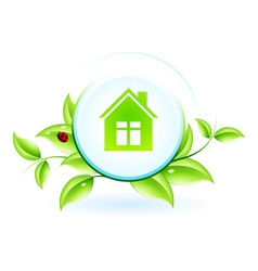 Green House Symbol vector image