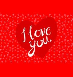 Happy Valentines Day Beautiful Watercolor Hearts vector image