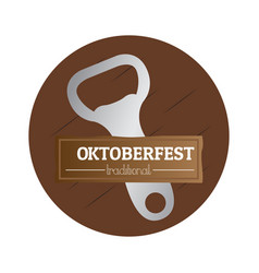 isolated oktoberfest label vector image