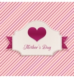 Mothers Day realistic Banner with big Heart vector image vector image