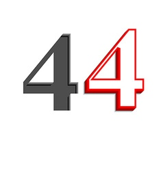 Number four design vector