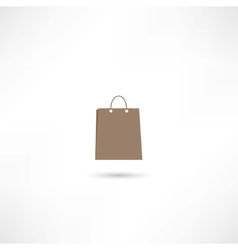 paper bag icon vector image vector image