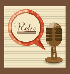 Retro microphone music studio technology vector