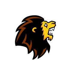 Roaring Lion Head vector image vector image