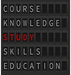 Study concept lettering vector image