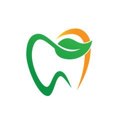 Tooth dental eco logo design image vector
