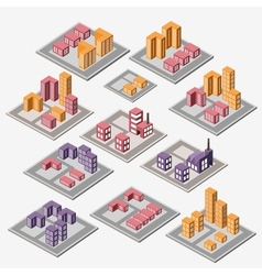 urban and industrial buildings vector image vector image