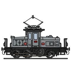 Vintage small electric locomotive vector