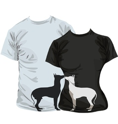 Dogs T-shirt vector image