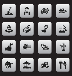Set of 16 editable structure icons includes vector
