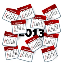 2013 calendar template vector image vector image