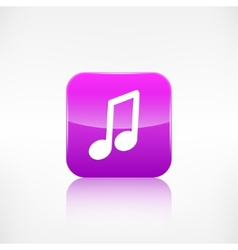 Music note icon musical background vector