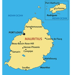 Republic of mauritius - map vector